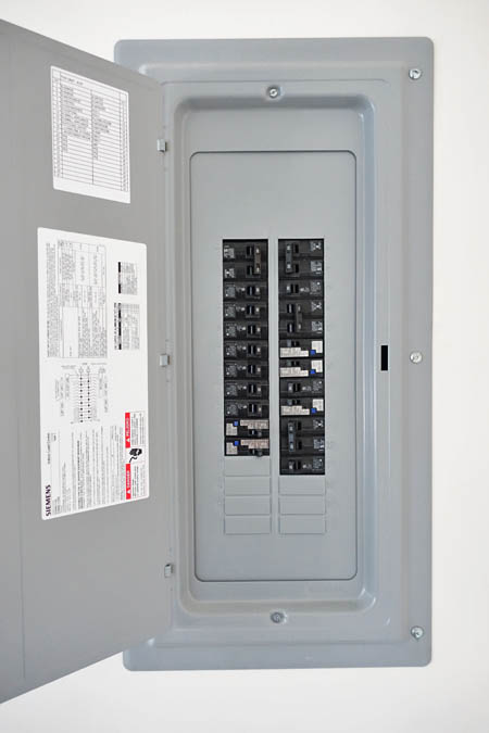 This picture shows an electrical panel installation in Ventura CA. This circuit breaker was an upgrade to 200 Amp.